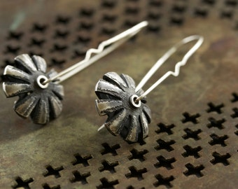 Silver Lentils Interrupted Earrings