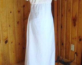 Adorable Regency gown-cotton---Size 6