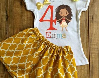 Personalized Moana Skirt Set - Moana Birthday Dress - Moana Tutu - Moana Outfit - Moana Dress - Moana Shirt