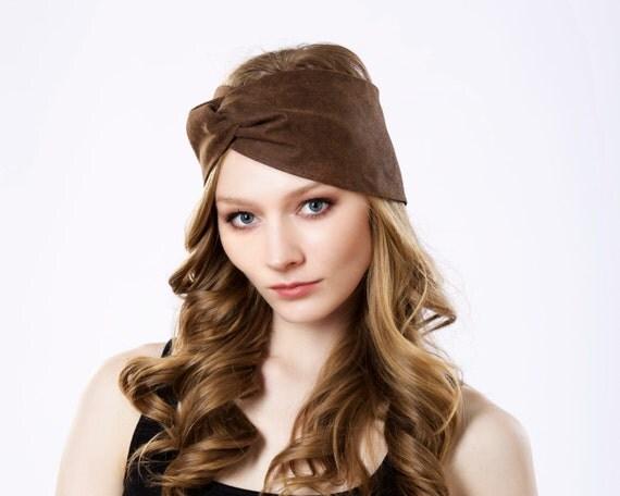 Leather Hair Accessory Headband Turban Hat Spring Fashion Boho Chic Headwrap Hairwrap Ear Warmer Turban Headband Women Spring Accessories