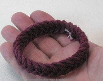 maroon herringbone rope bracelet soft bangle bracelet sailor knot bracelet turks head knot beach bracelet armband rope jewelry 3791