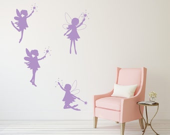 Fairy wall decals for kids, Kids wall stickers for bedroom, Girls wall decals, Vinyl decal, Playroom wall decals, Nursery wall decals DB219