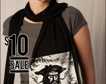 10 Dollar Sale -- Blackbeard the Pirate Jersey Cotton Scarf