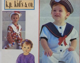 Nautical Little Sailor Sewing Pattern Simplicity 8512 Childrens Size 2-4 K.P. Kids Co  Kari Pearson