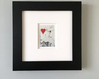 Small Framed Art, Framed Heart Print, Framed Photography, Framed Wall ArtFramed Print 10x10 Framed Art,Framed Urban Art,Valentines Day Decor