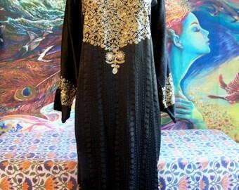 Plus size Caftan, Brown Caftan, Embroidered caftan, Gypsy Caftan, Plus size maxi, size 2X