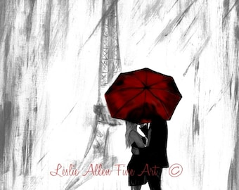 Red umbrella etsy for Painting red umbrella