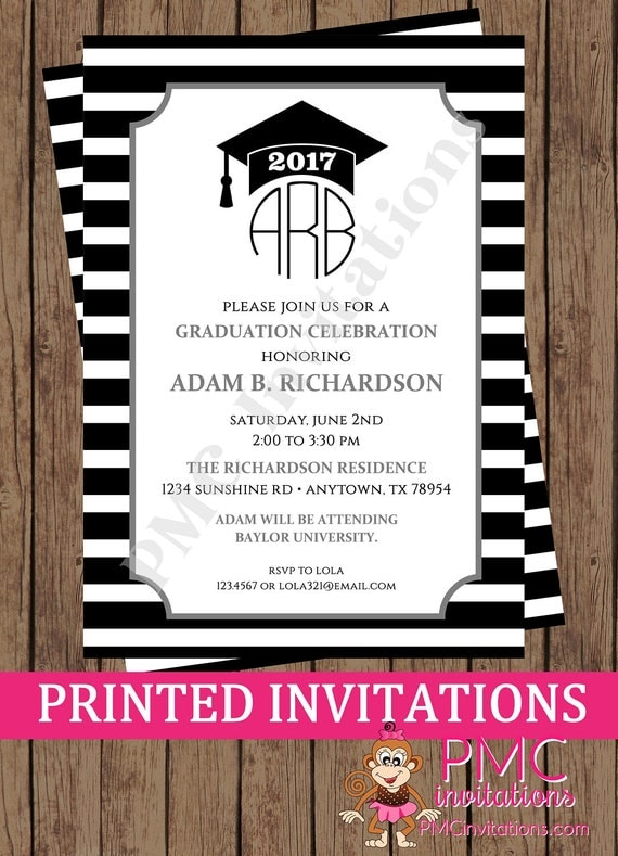 Monogram graduation celebration invitation graduation party il570xn filmwisefo