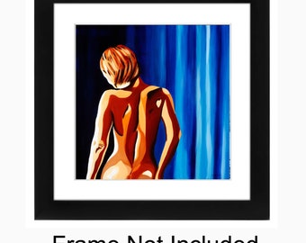 Sexy, Sensual, Female Nude Fine Art Figurative Print - Kallipygeia 11 x 11, Bedroom and Home Decor Artwork