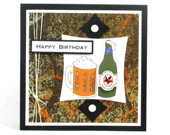 Birthday cards, beer cards, men's birthday cards, dad's birthday, son's birthday, father's birthday, husband's birthday