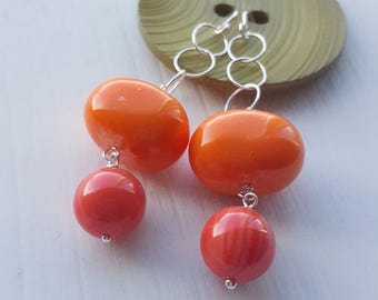 lady marmalade - earrings - vintage lucite and sterling