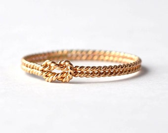 Yellow Gold Filled Twist Knot Promise Ring