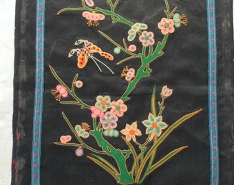 Antique 100 year old Chinese Embroidery on Silk