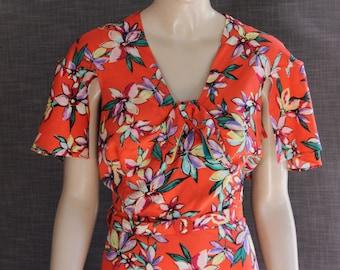 The ' APRIL ' Dess . A fabulous 1930's Vintage Reproduction 'Capelet' Day dress