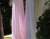 GARAGE SALE..! Vintage Kitty.. hand dyed pale pink.... layering tunic slip with two lace layers...., shabby chic... large