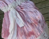 GARAGE SALE..!!  Vintage Kitty.. gorgeous crushed velvet, dusky pink bloomers.., vintage style, victorian.. shabby chic..  small