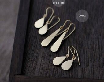 Simple dangly droplets in Vermeil earrings