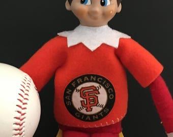Sports inspired Elf shirt - Giants baseball