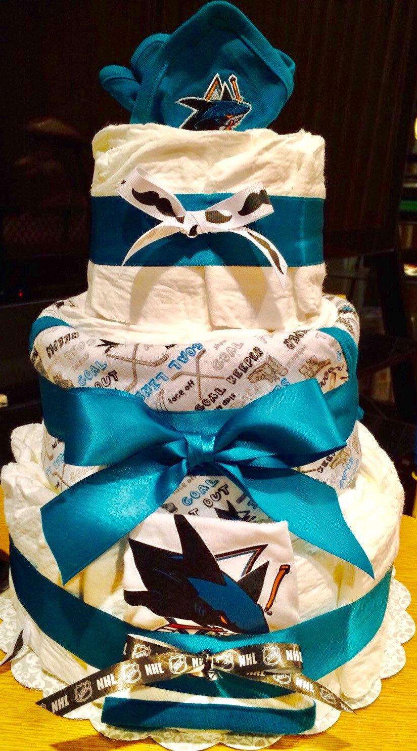 San Jose Sharks Baby Diaper Cake San Jose Sharks Baby Shower