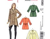 Womens Tunic Pattern McCalls 6380 Long Flared Shirt Button Front Long Sleeves Pullover Top Womens Sewing Pattern Size 6 to 20 UNCUT