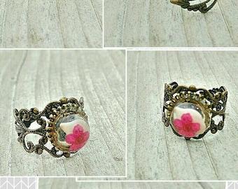 Adjustable filigree rings