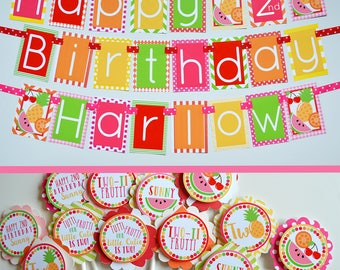 Twotti Frutti Birthday Party Fully Assembled Decorations | Twotti Fruity | Twotti Frutti Birthday | Fruitti Theme | Fruit Party
