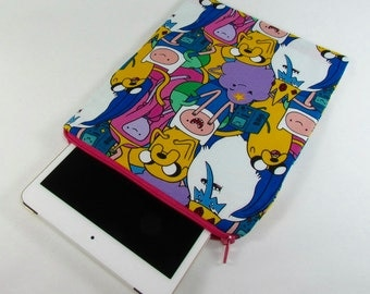 iPad mini Padded Sleeve (for iPad mini 2, 3, 4) - Adventure Time **handmade**