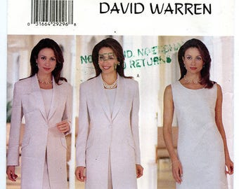 Butterick 6001 by David Warren Misses' Petite Jacket, Dress, Top & Pants UNCUT Sewing Pattern Sizes Small 8-10-12 Bust 31.5 32.5 34