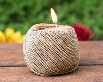 Beeswaxed Hemp Twine, 250 Feet, Hemp  1mm,    Waxed Hemp, Natural Twine, Candle  Wick -T82