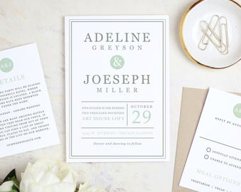 Printable Wedding Invitation Template | Mint Type | Word Or Pages | MAC Or  PC |