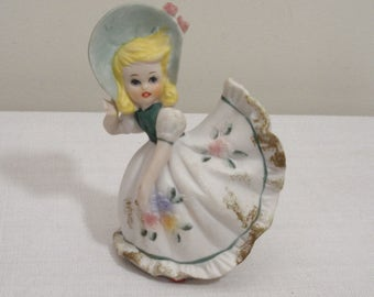 Vintage Lefton Bloomer Girl - Blonde Hair Bloomer Girl
