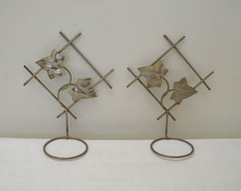 Vintage Metal Ivy Wall Plant Holders