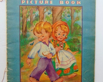 1938 Hansel And Gretel Large Vintage Book