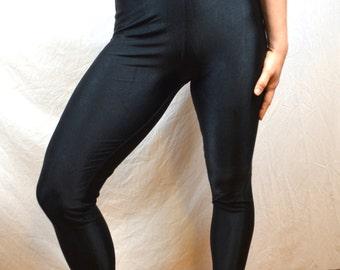 Basic Vintage 80s Black Spandex Pants