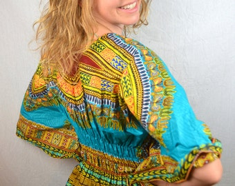Vintage Tribal Fitted African Dress Caftan