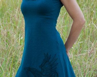 XS Mini dress Hemp and Organic Cotton - Sky Hwael