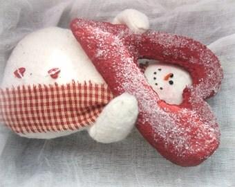 Valentine Snowman | Snowman decor | Valentines day decoration | Whimsical snowman | Valentine's day gift | Whimsical Valentine gift