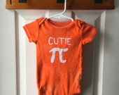 Pi Day Baby Bodysuit, Orange Pi Day Baby Shirt, Cutie Pi Bodysuit, Nerdy Baby Bodysuit, Math Baby Gift, Boys Pi Day, Girls Pi Day (9 months)
