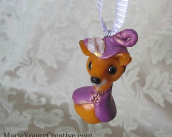 Woodland Fox Figurine, Cute Fairy Tale Ornament, Story Book Charm, Totem, Spirit Animal, Sherwood Forest Friend