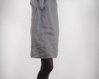 Tunic Dress Linen Dress, Womens Loose Linen Tunic Dress, Womens Linen Clothing Tunic,