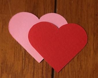 """Scalloped Hearts / Die Cut / 4.5"""" / Valentine DIY"""