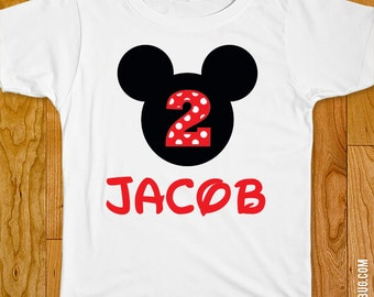 Mickey Mouse Party Iron-On Shirt Design - Choose child or onesie size
