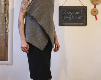 Wool grey vest