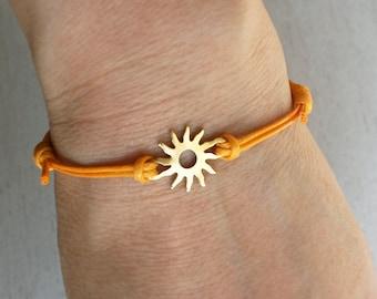Sun Bracelet, Sun Anklet (many cord color to choose)