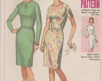 Simplicity 6368 / Vintage 1960s Sewing Pattern / Dress / Bust 41
