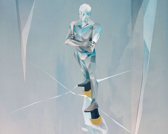 """Iceman-Inspired Modernist Print: """"Stay Frosty"""""""