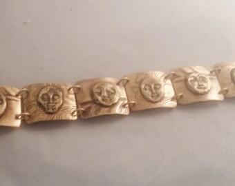Brass and Bronze Metal Clay Bracelet