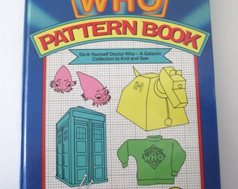 Book, The Doctor Who Pattern Book, English edition, W. H. Allen, London, 1984, Do-it-Yourself Doctor Who, rare, collectible, geeky gift