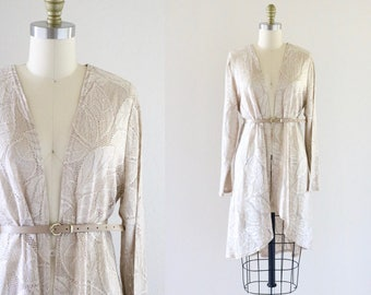 belted lace summer jacket