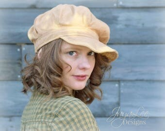 Distressed Newsboy Hat Workwear Bleached Sun Hat Cap